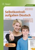 Selbstkontrollaufgaben Deutsch 3./4. Klasse
