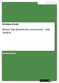"""Kleists """"Das Bettelweib von Locarno"""" - eine Analyse"""