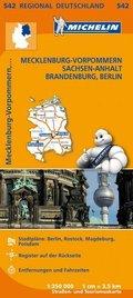 Michelin Karte Mecklenburg-Vorpommern, Sachsen-Anhalt, Brandenburg, Berlin; Allemagne Nord-Est