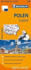 Michelin Karte Polen Südost; Pologne Sud-Est