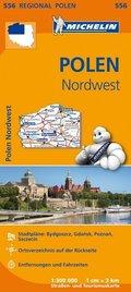 Michelin Karte Polen Nordwest; Pologne Nord-Ouest