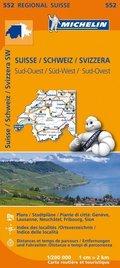 Michelin Karte Schweiz Süd-West; Suisse, Sud-Ouest; Svizzera, Sud-Ovest