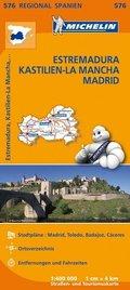 Michelin Karte Estremadura, Kastilien-La Mancha, Madrid; Espana Centro, Castilla-La Mancha, Madrid