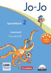Jo-Jo Sprachbuch, Allgemeine Ausgabe, Neubearbeitung: 2. Schuljahr, Arbeitsheft Grundschrift mit CD-ROM