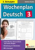 Wochenplan Deutsch, 3. Schuljahr