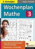 Wochenplan Mathe, 3. Schuljahr