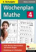 Wochenplan Mathe, 4. Schuljahr