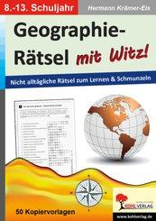 Geographie-Rätsel mit Witz!, 8.-13. Schuljahr