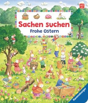 Sachen suchen - Frohe Ostern Wimmelbuch