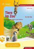 Tiere im Zoo für die Kita