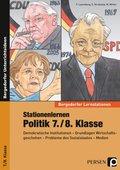 Demokratische Institutionen - Grundlagen Wirtschaf tsgeschehen - Probleme des Sozialstaates - Medien