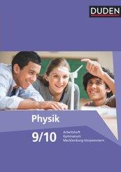 Duden Physik, Gymnasium Mecklenburg-Vorpommern, Neubearbeitung: 9./10 Schuljahr, Arbeitsheft