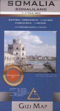 Gizi Map Somalia, Somaliland, Geographical Map