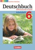 Deutschbuch, Differenzierende Ausgabe Nordrhein-Westfalen: 6. Schuljahr, Arbeitsheft