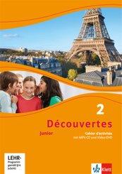 Découvertes Junior: Klasse 6, Cahier d'activités m. MP3-CD u. Video-DVD; Bd.2