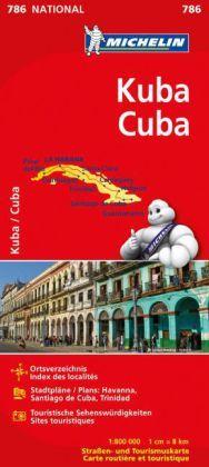 Michelin Karte Kuba; Cuba