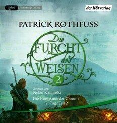 Die Furcht des Weisen, 3 Audio-CD, - Tl.2