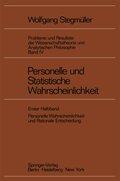 Probleme und Resultate der Wissenschaftstheorie und Analytischen Philosophie: Personelle und Statistische Wahrscheinlichkeit; Bd.4/1 - Halbbd.1