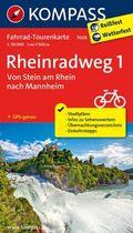 Kompass Fahrrad-Tourenkarte Rheinradweg - Tl.1