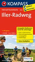 Kompass Fahrrad-Tourenkarte Iller-Radweg