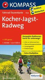 Kompass Fahrrad-Tourenkarte Kocher-Jagst-Radweg