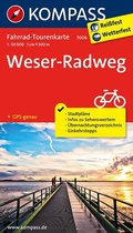 Kompass Fahrrad-Tourenkarte Weserradweg