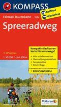 Kompass Fahrrad-Tourenkarte Spreeradweg