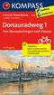 Fahrrad-Tourenkarte Donauradweg 1, Von Donaueschingen nach Passau - Tl.1
