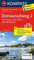 Kompass Fahrrad-Tourenkarte Donauradweg - Tl.2