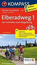 Kompass Fahrrad-Tourenkarte Elberadweg - Tl.1