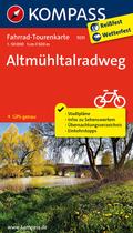 Kompass Fahrrad-Tourenkarte Altmühltalradweg