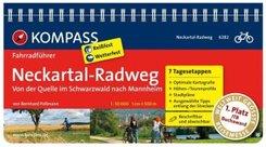 KOMPASS Fahrradführer Neckartal-Radweg, von der Quelle im Schwarzwald nach Mannheim