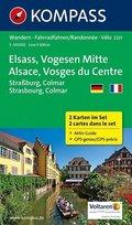 Kompass Karte Elsass, Vogesen Mitte, 2 Bl.; Alsace, Vosges du Centre