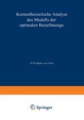 Kostentheoretische Analyse des Modells der optimalen Bestellmenge