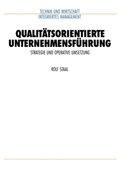 Qualitätsorientierte Unternehmensführung