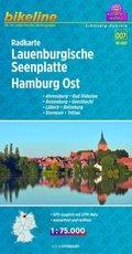 Bikeline Radkarte Lauenburgische Seenplatte, Hamburg Ost