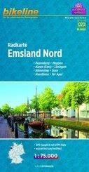 Bikeline Radkarte Emsland Nord