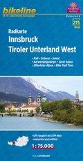 Bikeline Radkarte Innsbruck, Tiroler Unterland West