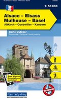 Kümmerly & Frey Outdoorkarte Elsass, Vogesen - Alsace/Elsass - Mulhouse - Basel