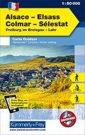 Kümmerly & Frey Outdoorkarte Elsass, Vogesen - Alsace/Elsass, Comar, Sélestat