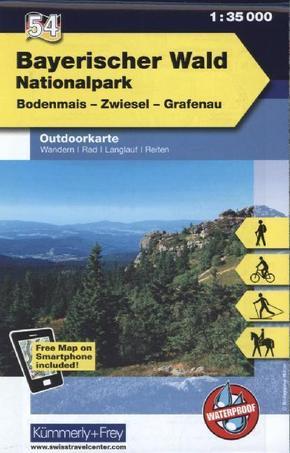 Kümmerly & Frey Outdoorkarte Bayerischer Wald, Nationalpark