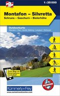 Kümmerly+Frey Outdoorkarte Österreich - Montafon - Silvretta