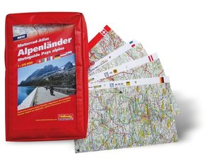Motorrad-Atlas Alpenländer 1:275 000; Motoguide Pays alpins