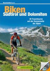 Biken Südtirol und Dolomiten, m. CD-ROM