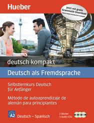 deutsch kompakt, Neuausgabe: Spanische Ausgabe: 2 Bücher + 3 Audio-CDs