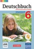 Deutschbuch, Differenzierende Ausgabe: 6. Schuljahr, Arbeitsheft mit Übungs-CD-ROM