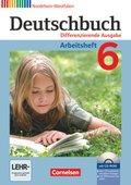 Deutschbuch, Differenzierende Ausgabe Nordrhein-Westfalen: 6. Schuljahr, Arbeitsheft, m. Übungs-CD-ROM