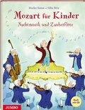 Mozart für Kinder. Nachtmusik und Zauberflöte, m. Audio-CD