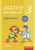 Mathe - Das kann ich!: Klasse 3, Übungsheft
