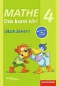 Mathe - Das kann ich!: Klasse 4, Übungsheft